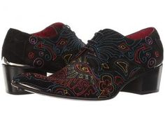 Jeffery-West Psychedellic (Black Suede) Men's Shoes