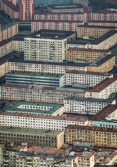 Russian city Norilsk photos from above