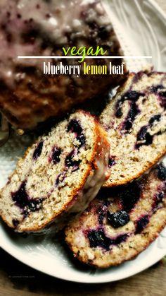 Blueberry Lemon Loaf for the Virtual Vegan Potluck @canned-time.com