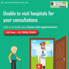 Doctor consultations for seniors at home through doctor on call services in Chennai provided by the best senior home healthcare provider. Home Doctor, Doctor On Call, Elderly Care, Hospitals, Chennai, Doctors, Travelling, Health Care, Books