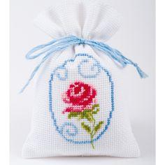 Kräutersäckchen - Rose --- 8x12 cm - 7Stiche/cm: Amazon.de: Küche & Haushalt