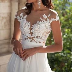 Ivory Lace Beach Wedding Dresses,Fr..