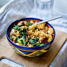 Chorizo and Kale Pasta Bowl