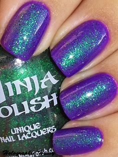 Drool over this: Holographic Hussy: Ninja Polish Alexandrite