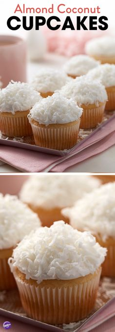 Treat mom to a delicious blend of almond and coconut by making these yummy Almond Coconut Cupcakes for Mother's Day!