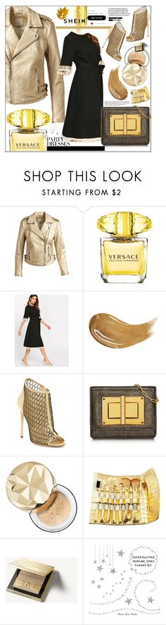 """""""#SHEIN"""" by bilbomex ❤ liked on Polyvore featuring Joie, Versace, Too Faced Cosmetics, Jerome C. Rousseau, Bare Escentuals, Burberry and Anja"""