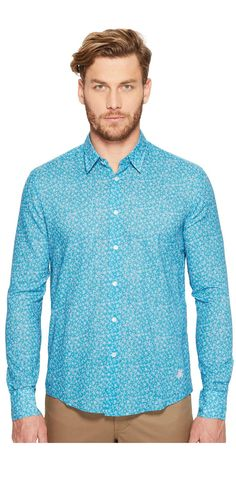 Come out of your shell.  Transform into a charming creature wearing the #Vilebrequin Micro #Turtles #Cotton #Voile #Button #Up. #men #apparel #clothing #tops #shirt