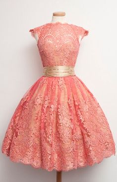 5a1dd04742 Coral Ball Gown Lace Homecoming Prom Party Dresses 2016