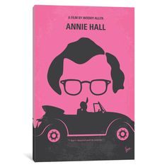 iCanvas Annie Hall Minimal Movie Poster by Chungkong Canvas Print