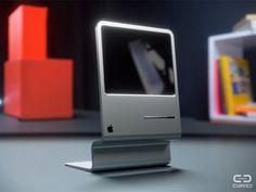 """Más que Lisa y menos de iMac. CURVA/labs ha hecho su concepto de """"Lisa"""" inspirado en el concepto de iMac.  iMac Concept Inspired por the Apple Macintosh Lisa Computer por CURVED/labs"""