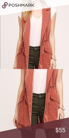 Anthropologie Orange vest new with tags made by Elevenses by Anthropologie Anthropologie Jackets & Coats Vests