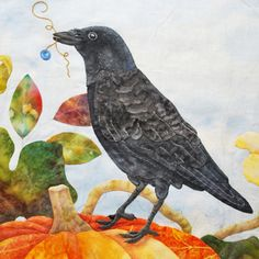 amazing crow embroidery and applique