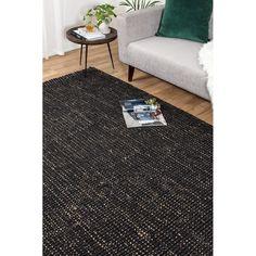 Tile Effect Laminate Flooring, Linoleum Flooring, Timber Flooring, Vinyl Flooring, Brown Leather Chairs, Braided Rag Rugs, Oval Rugs, Black Rug, Black White