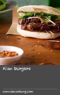 This burger bun recipe is our take on the traditional bread found in Xi'an. Although the original buns are the best, this delicious version comes a close second. You can use pork belly instead of lamb, if you prefer. Burger Recipes, Pork Recipes, Bread Recipes, Best Pork Recipe, Bun Recipe, Burger Buns, Burgers, Traditional Bread Recipe, Pork Belly