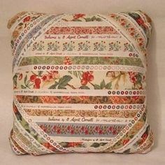 Make this charming pillow with your favorite selvages! It's quick and easy. Wouldn't it look great in your quilt studio, or make a sweet gift for a quilter friend? The back of the pillow could be s...
