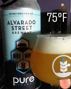 Would of loved to see how this is in a couple of weeks..but still very drinkable and refreshing.  #double #iipa #ipa #booze #pure #pureproject #alvaradostreetbrewery #collab #canrelease #cancrusher #hivemind #craft #brewery #unfiltered #ryemalt #honey #norcal #socal #beer #thatheadtho #montereylocals - posted by Luis Arredondo https://www.instagram.com/enano_tun_tun - See more of Monterey Bay at http://montereylocals.com