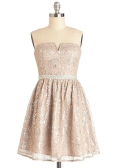 In Glint Condition Dress in Champagne
