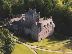 Cawdor Castle, Scotland... not only is it absolutely gorgeous, it's haunted too :)