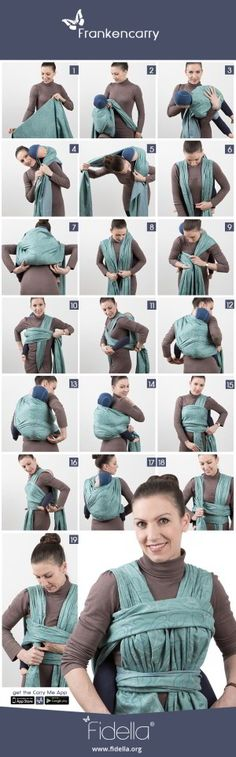 Babywearing Woven Wrap Tutorial || How To Babywear || Frankencarry Tutorial || Back carry woven wrap
