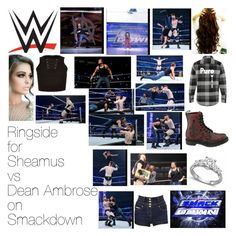 """Ringside for Sheamus vs Dean Ambrose on Smackdown"" by wwediva72 ❤ liked on Polyvore featuring WWE, River Island and Jane Norman"