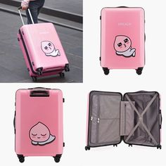 Kakao Friends Apeach Travel Luggage 27 inch ABS Trolley Spinner Carry On  #KakaoFriends