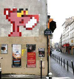 New stuff by Invader in Paris. #spaceinvader http://www.widewalls.ch/artist/space-invader/