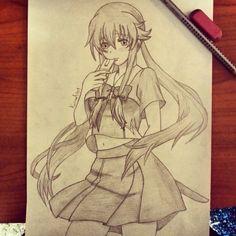 Yuno Gasai from Mirai Nikki - 2 by KarmaSound91.deviantart.com on @DeviantArt
