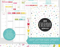 Keep track of just about everything with these DIGITAL PRINTABLE planner pages from Section 2 { To Do Lists } of my 2017 Everyday Planner!  ❯❯ PAGES ❮❮ ⋗ Books to Read ⋗ Bucket List ⋗ Bucket List Monthly ⋗ Cleaning Schedule ⋗ Daily Schedule (sun to sat + mon to sun) ⋗ Daily to Do ⋗ Date Night Anytime ⋗ Date Night Monthly ⋗ Goals for the Week ⋗ Read Books List ⋗ Things to Do  View larger images of this section here... → http://bit.ly/S22017  ❯❯ DETAILS ❮❮ ⋗ High quality .PDF for...