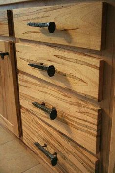Railroad ties for dresser drawers