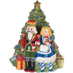 Fitz and Floyd First Ladies Nutcracker Cookie Jar (2.151.040 IDR) ❤ liked on Polyvore featuring home, kitchen & dining, food storage containers, multi, christmas cookie tins, christmas cookie jar, xmas cookie jars, christmas cookie boxes and white cookie jar