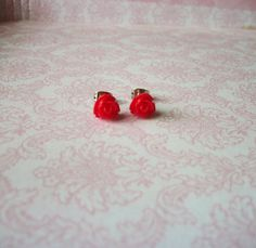 Hey, I found this really awesome Etsy listing at https://www.etsy.com/listing/165514067/handmade-ruby-red-rose-rosebud-tiny