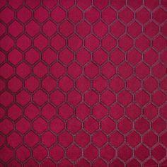 Eternity Cardinal  51% Po51% Cott/ 49% Poly  150cm (useable 147cm)  V - 6.5cm, H - 4cm  Dual Purpose 23,000 rubs Geometric Curtains, Geometric Fabric, Curtain Material, Curtain Fabric, Stuart Graham, Made To Measure Blinds, Prestigious Textiles, Fabric Samples