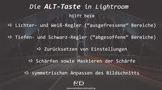 Checkliste zu meinem Video über die Verwendung der ALT-Taste in Lightroom