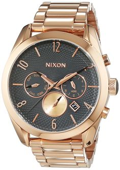 Nixon A366-2046 Ladies Bullet Rose Gold Gunmetal Chrono Watch -- Find out more about the great product at the image link.