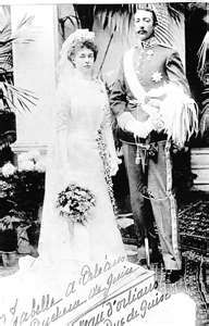 Princess Isabelle of Orléans  Married: 30 October 1899 at Twickenham