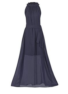 fbd7ef270dfc Howriis Women s Navy Chiffon Sleeveless Long Formal Dress... https   www
