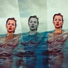 Kate Moss Swim Tulum, 2014 , by Enrique Badulescu