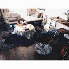 sbtyreさんの、リビング,無印良品,コーヒータイム,nikoand,1K,楽天で買ったもの,1K 1人暮らし,アイアン家具,一人暮らし,雑多な収納,niko and… ,雑貨,賃貸,音楽,こたつ,ヘリノックスチェア,Helinox,ベロアシーツ,毛布,のお部屋写真