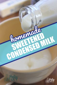 Do you love the idea of making your very own Homemade Sweetened Condensed Milk? This is the recipe for you! It's only 4 ingredients and so simple! It can be used in any recipe that calls for a can of sweetened condensed milk. Condensed Milk Desserts, Homemade Sweetened Condensed Milk, Recipes With Fruit Cocktail, Fruit Cocktail Cake, Arabic Dessert, Arabic Sweets, Arabic Food, Indian Dessert Recipes, Baking Tips