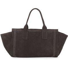 Brunello Cucinelli Nubuck Tote Bag w/Monili Detail