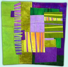 Melody Johnson: Art Quilts - Galleries - Streets and Rivers Series.