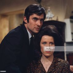 Jeremy Brett with Judy Parfitt in a scene from the television drama 'Quite an Ordinary Knife' in 1967.