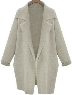 light grey lapel loose trench.