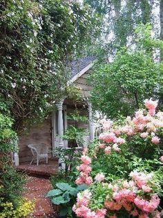 porch. path. flowers.