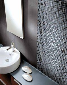 #mosaik#fliesen#inspiration#badezimmer Mosaic Tiles, Boxer, Sink, Flooring, Interior, Home Decor, Designs, Size 2, Bathrooms