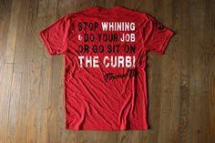 STOP WHINING- Red  Tri-blend Athletic cut great for workouts by Fireman Up | Firefighter Support New Arrivals | Fireman Up Made in the USA, and hand-printed graphics in Texas designed by firefighters and their family.