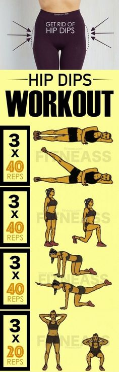 Belly Fat Workout - 4 best moves to get rid of hip dips and get fuller butt. Belly Fat Workout - 4 best moves to get rid of hip dips and get fuller butt. Do This One Unusual Trick Before Work To Melt Away Pounds. Body Fitness, Physical Fitness, Workout Fitness, Woman Fitness, Fitness For Women, Pink Fitness, Training Fitness, Squat Workout, Curvy Workout