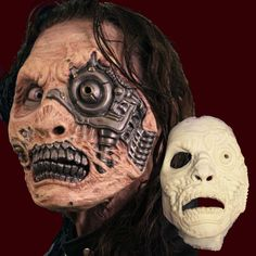 Looking for foam latex prosthetics? See our huge selection of foam latex appliance masks. FX prosthetics are used in film, theater, LARP and zombie walks around the world. Not just Halloween masks, these transform you into your character. Robot Makeup, Sfx Makeup, Makeup Tips, Halloween Masks, Halloween Face Makeup, Walk Around The World, Storage One, Zombie Walk, Rpg