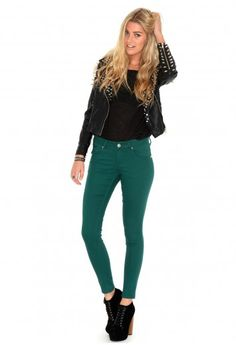 These are my favourite jeans this season, I love the colour as its very christmasy! #MGwinterwardrobe