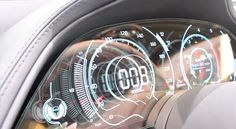 KIA GT Sports Transparent OLED Car Dashboard Display: